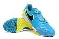 Футбольные сороконожки Nike Tiempo Mystic V TF Clear Jade/Black/Volt, фото 1