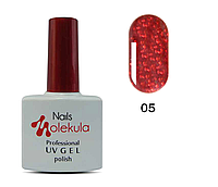 Гель-лак Nails Molekula №5 красное мерцание