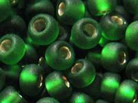 Бисер Preciosa Чехия №57120 matt 1г, зеленый, блестящий, матовый