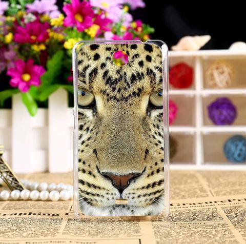 Чехол из силикона для Microsoft Lumia 430 с картинкой Леопард