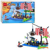 Конструктор затопленный корабль пиратов Brick 302