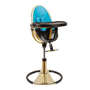 "Cтульчик для кормления «Bloom» ""Fresco"" цвет ""Yellow Gold"", вкладыши ""Bermuda Blue"" (E10516-BBL-11-A, фото 2"
