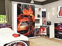 Шкаф 3D Мульти Гонки (Світ Меблів ТМ)