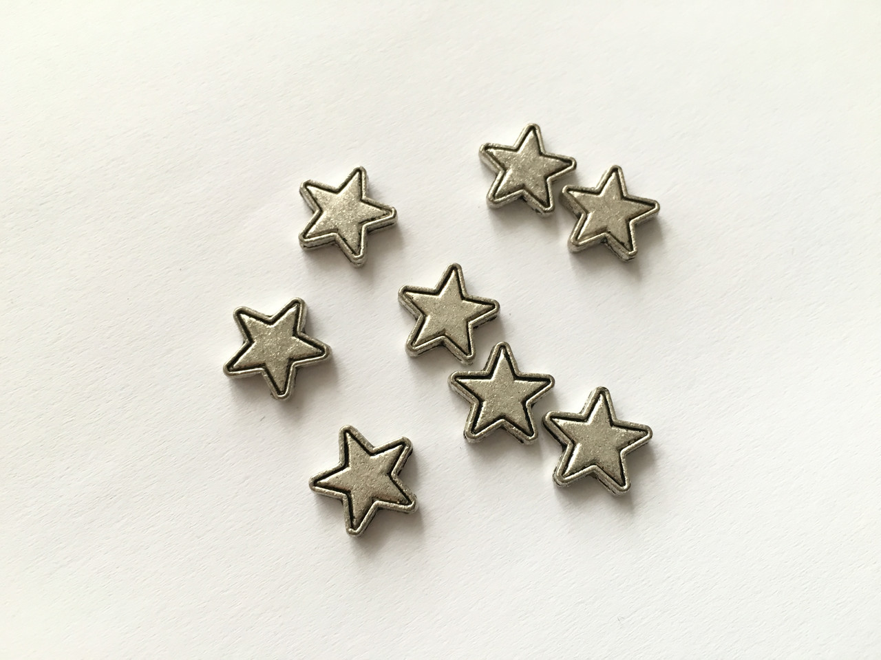 Звезда. Цвет античное серебро. 12мм