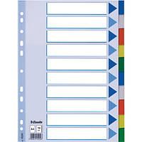 Разделители пластиковые из ПП, цифровые A4 Esselte, 1-10