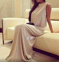 Женское коктейльное длинное платье в пол микромасло