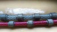 Трос канат пила  алмазный для гранита габбро бетона карьерный ЧПУ станочный красный черный монтебьянка