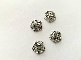 Обниматель для браслетів металеві. Колір античне срібло. 16мм