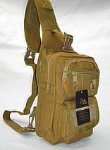 Городской однолямочный рюкзак с отделением под пистолет, фото 3