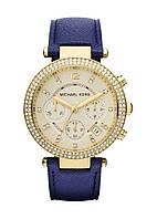 Часы Michael Kors Parker Chronograph Gold-tone Navy Leathe MK2280