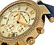 Часы Michael Kors Parker Chronograph Gold-tone Navy Leather MK2280, фото 3