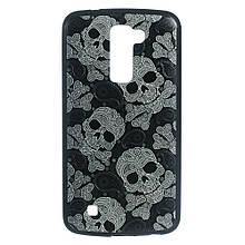 Чехол накладка силиконовый TPU для LG K10 K410 Skulls Cross Bones