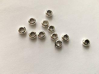 Фурнітура для браслетів. Колір античне срібло. 7,5 мм