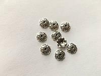 Обниматель для браслетов металлические. Цвет античное серебро. 10мм