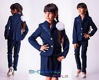 Школьная форма тройка юбка + брюки + пиджак