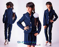 Шкільна форма трійка спідниця + штани + піджак