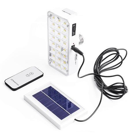 Лампа-фонарь аккумуляторная + солнечная батарея купить в Украине
