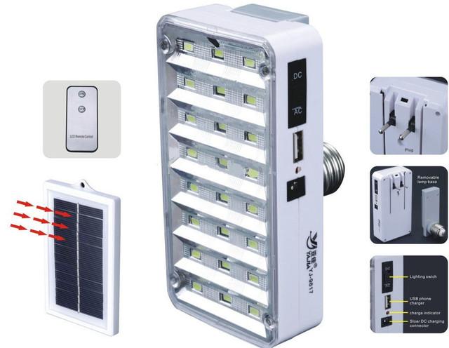 Лампа фонарь аккумуляторная, солнечная батарея купить