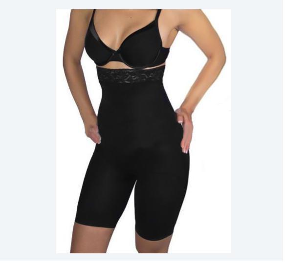 Шорты корректирующие с завышенной талией Slimming shorts, черный - CrazySport в Киеве