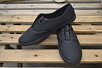 Мокасины на шнурках р. 36-41, 24 пары в упаковке (чёрные)