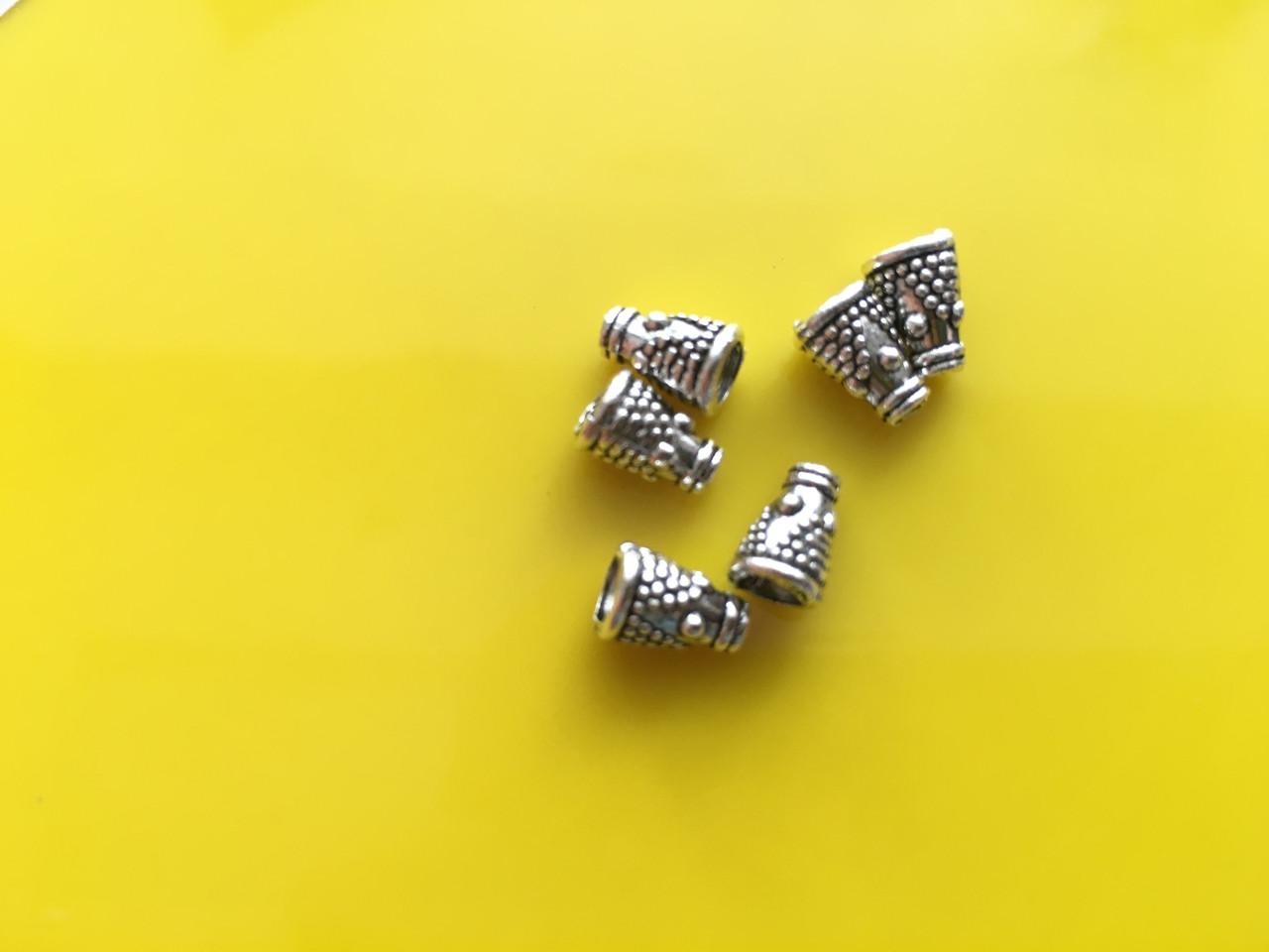 Металлические декоры. Цвет античное серебро. 8мм