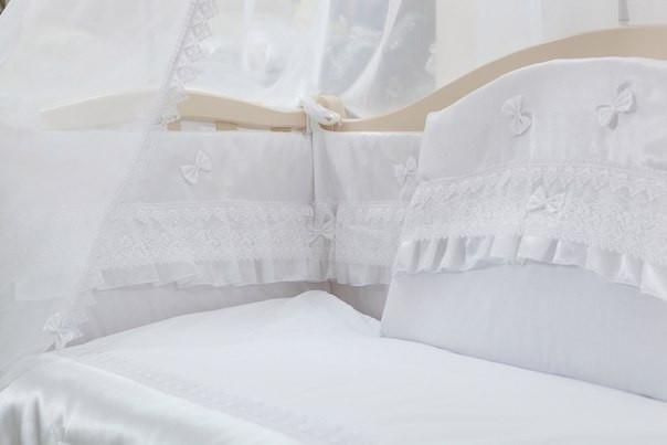 Детский постельный комплект «Французский шарм» (Белый, 6 элементов), EkoBaby