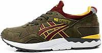 Мужские кроссовки Asics Gel Lyte V Brown/Red/Yellow, асикс гель лайт