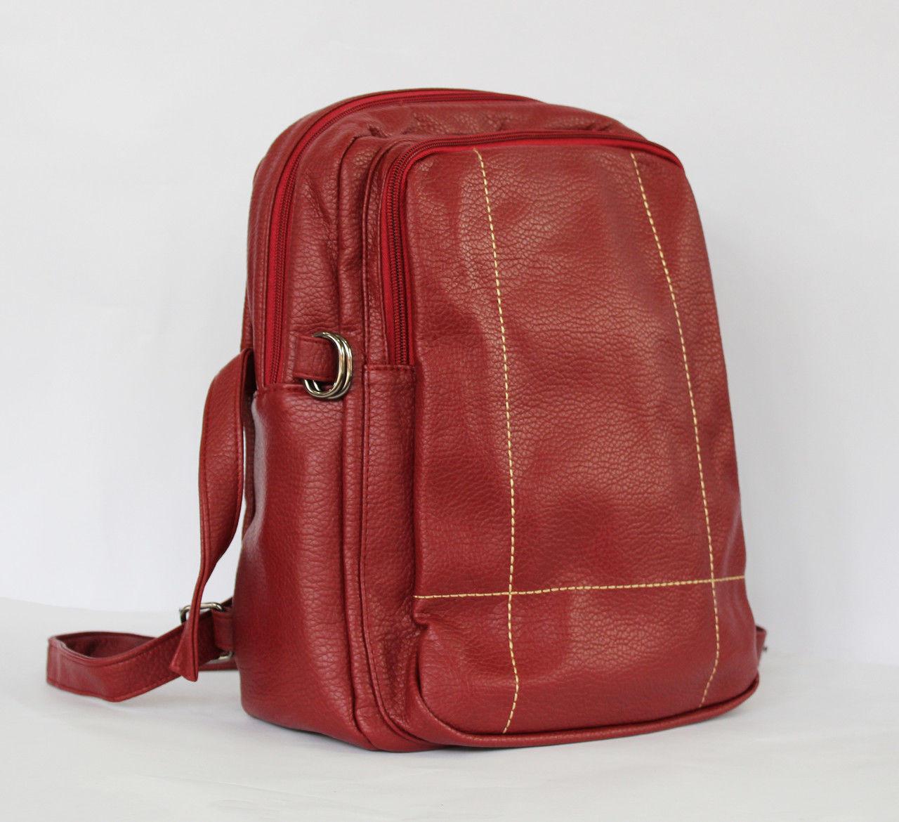 Рюкзак з стьобаної штучної шкіри.