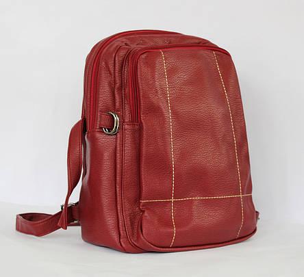 Рюкзак з стьобаної штучної шкіри., фото 2