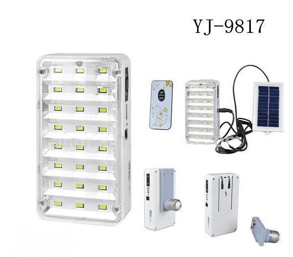 Лампа фонарь аккумуляторная, солнечная батарея