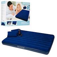 Надувной матрас с надувными подушками Intex Classic Downy Bed 68765