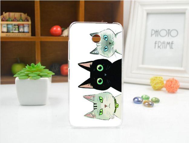 Чехол силиконовый бампер для Nokia Lumia 630 635 с рисунком Коты