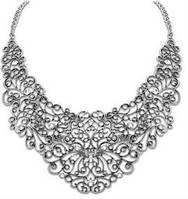 Ожерелье колье серебро антик tb1211
