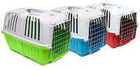 Переноска для кошек и собак Pratiko 2 (55х36х38см) до 18 кг. с металлической дверцей