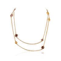 Золотая женская цепочка с полудрагоценными камнями, фото 1