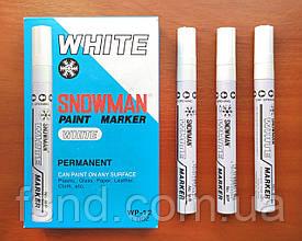 Перманентный маркер SNOWMAN, белый