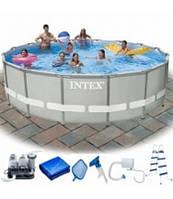 Intex 28326 Каркасный бассейн Ø 488х122 с хлор-генератором+ полный комплект