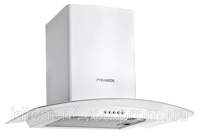 Pyramida KR 60 white (600 мм.) купольная декоративная вытяжка, белая эмаль
