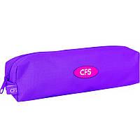 """Пенал CF16 CF85531 фиолетовый """" Fashion Violet"""", 21х5х5 см, рипстоп, 1 отделение на молнии"""