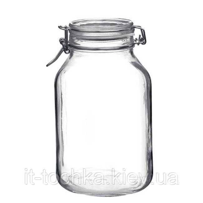 Стеклянная емкость для продуктов bormioli rocco 3 литра fido (149250417321991)