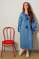 Платье льняное вышитое IRINA, фото 1
