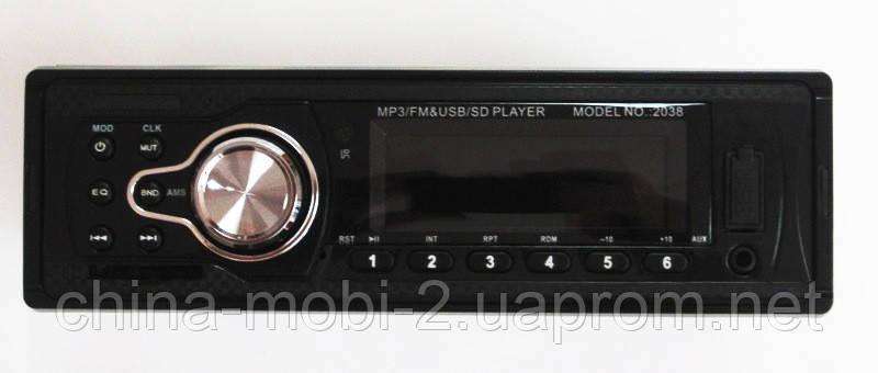 Автомагнитола Pioneer 2038 MP3/SD/USB/AUX/FM