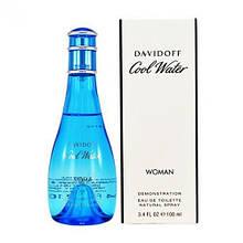 Davidoff Cool Water Women туалетна вода 100 ml. (Тестер Давідофф Кул Ватер Вумен)
