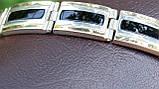 Браслет серебряный с золотыми пластинами, фото 6