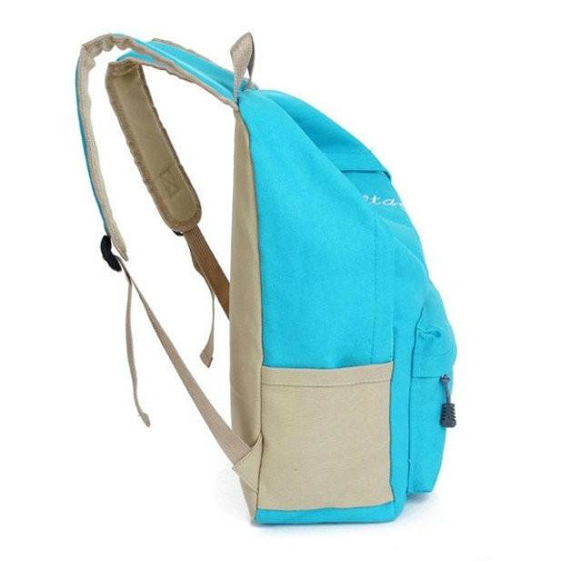 Молодежный однотонный рюкзак