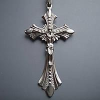 Серебряный крест с объемным распятием