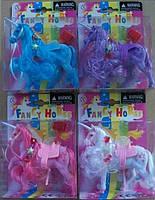 Лошадь-единорог 6000B-379LN флок. 4.5 4цв