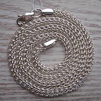 Цепь серебряная мужская, 600мм, плетение Питон 26,6 гр
