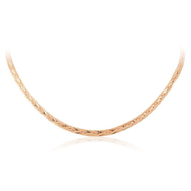 Золотое колье из красного золота - 15.53 гр