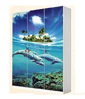 Шкаф 3D Мульти Дельфины (Світ Меблів ТМ)